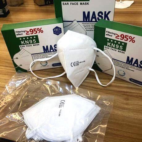 KN95 (FFP2) Ochranné rúško biele (1ks)
