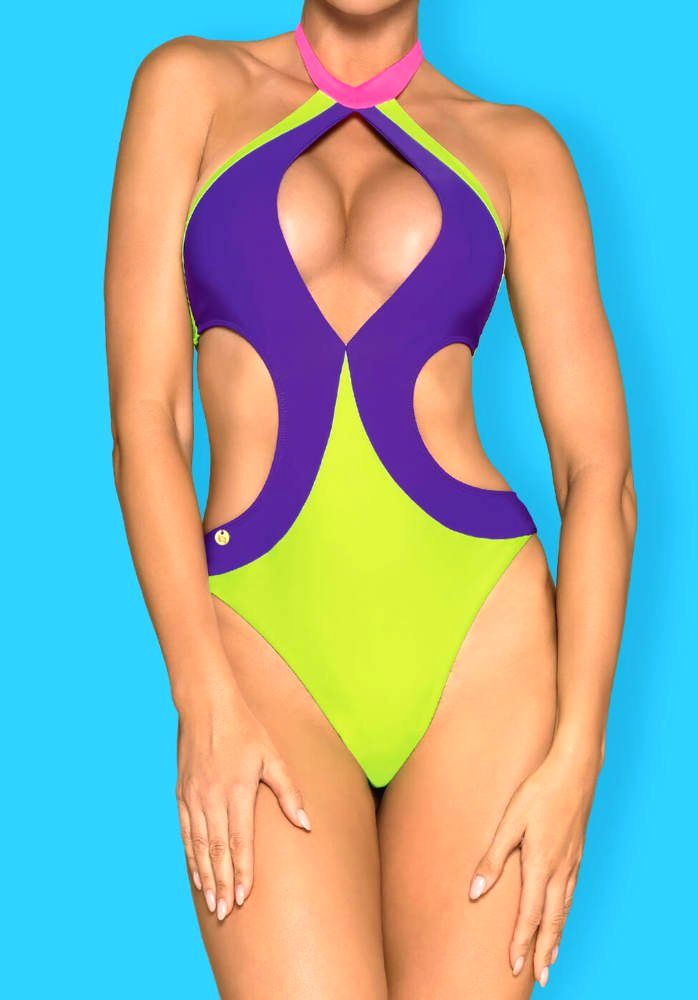 Obsessive playa norte colorful one-piece swimsuit