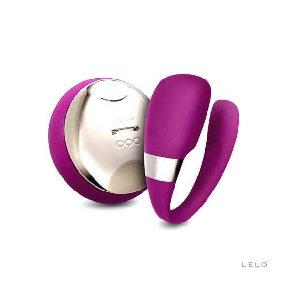 Tiani 3dielny párový vibrátor (fialový)