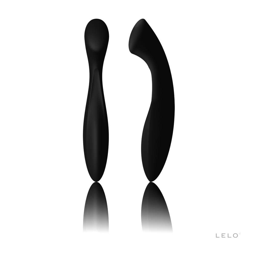 Ella - dildo s dvoma končekmi (čierne)