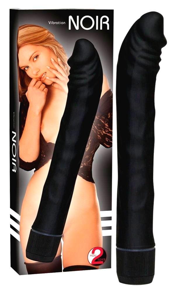 Noir - vibrátor čiernej farby (19 cm)
