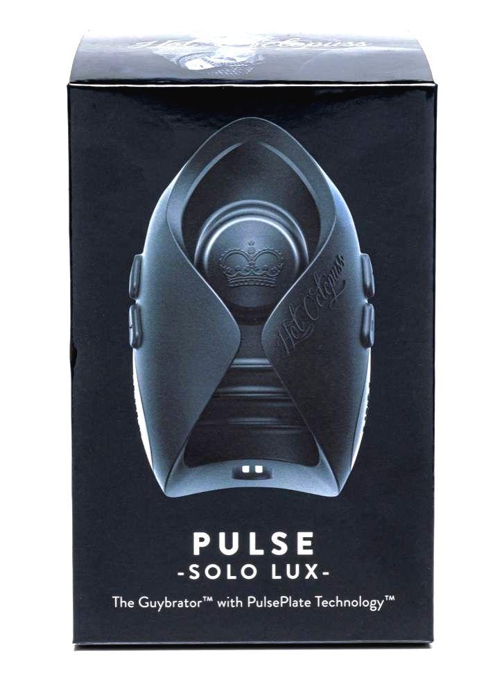 Hot Octopuss Pulse Solo Lux nabíjací masturbátor na diaľkové ovládanie (čierny)