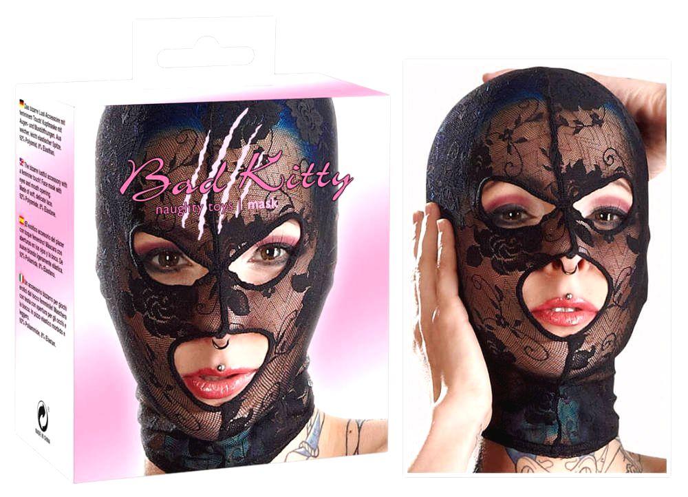 čipková maska na hlavu