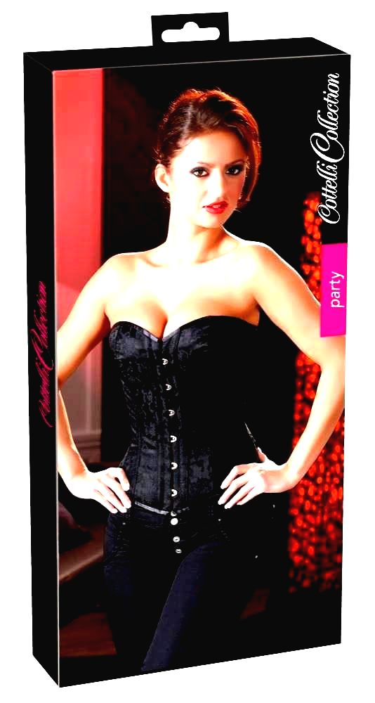 Cottelli embroidered party lace (black)