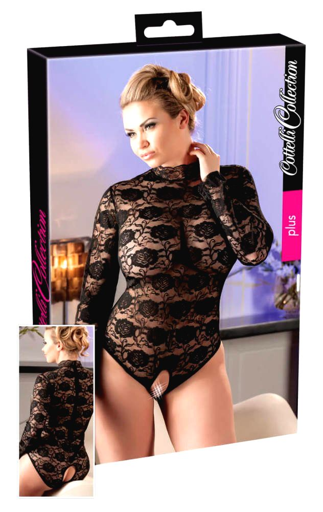 Lace Body Crotchless