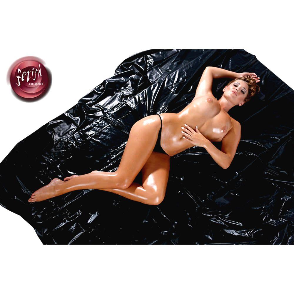 Fetish  Collection – lakovaná plachta čierna (200x230cm)
