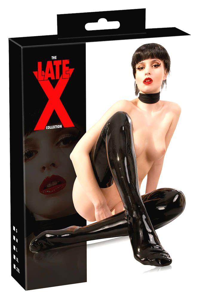 LATEX – dámske pančuchy (čierne)