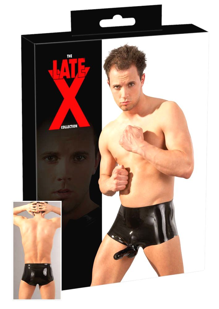 Latex Pants with PenisTesticle Sleeve