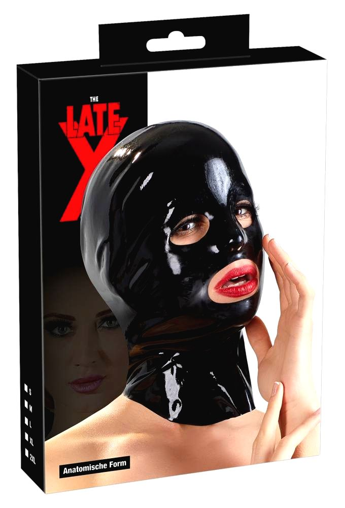 LATEX - Anatomical Head Mask (Black)