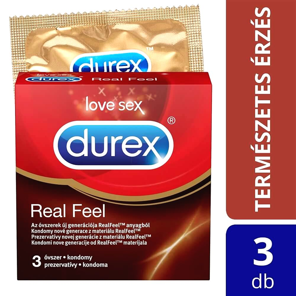 Real Feel - bezlatexové kondómy (3 ks)