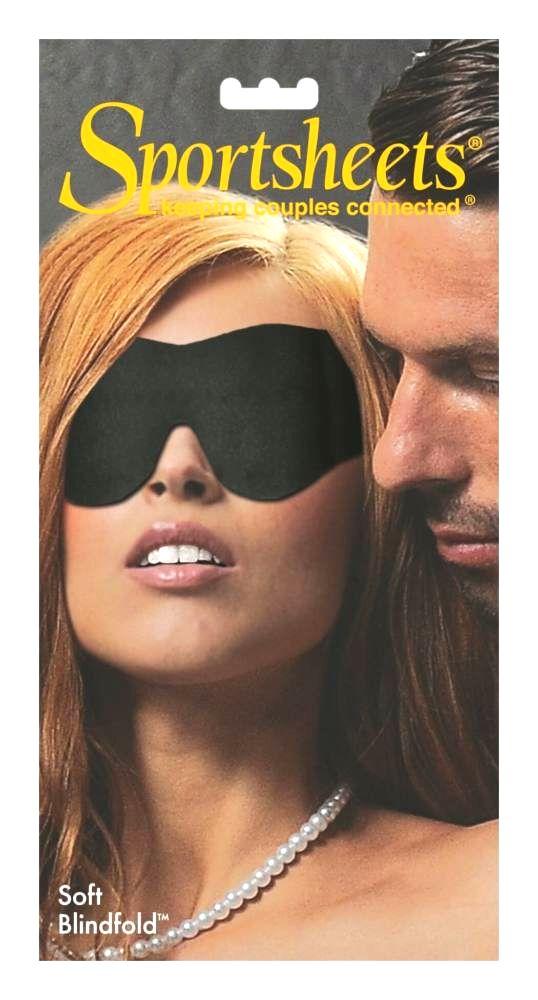 Jemná maska na oči s gumeným popruhom (čierna)