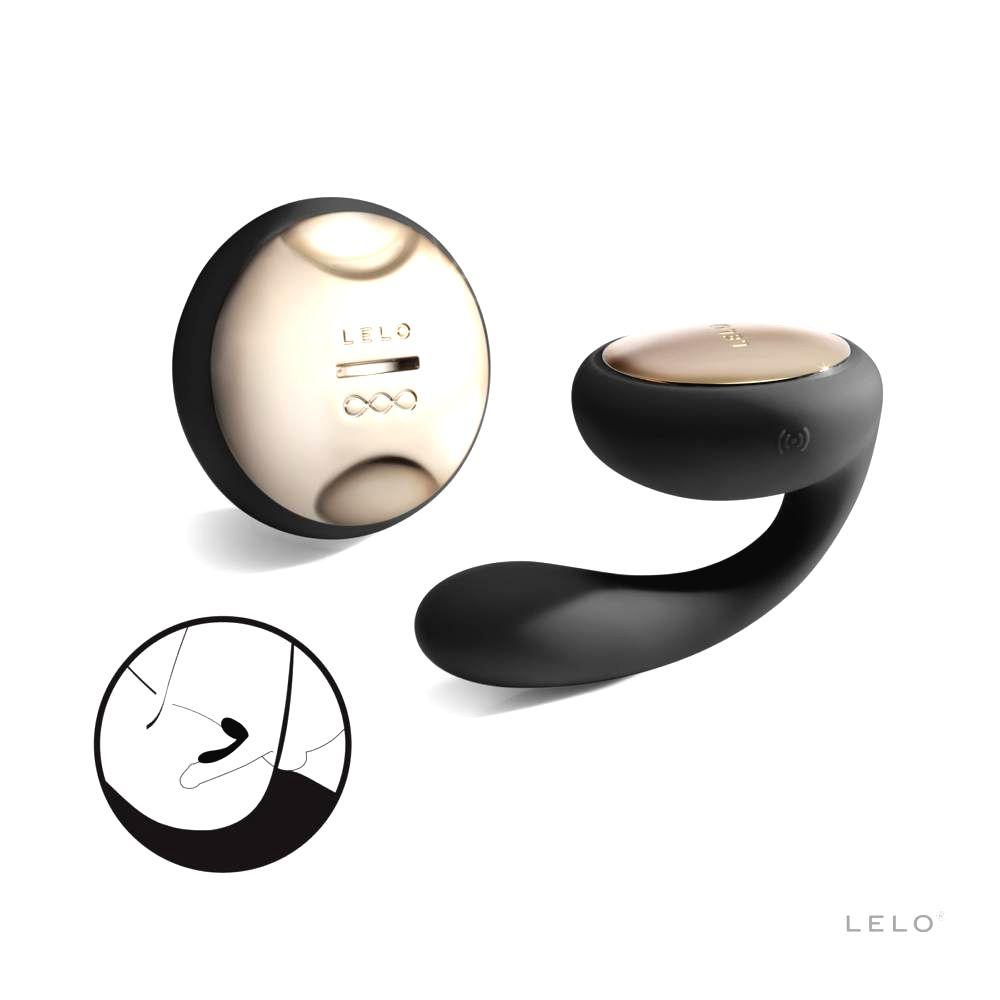 Ida – rotačný párový vibrátor (čierny)