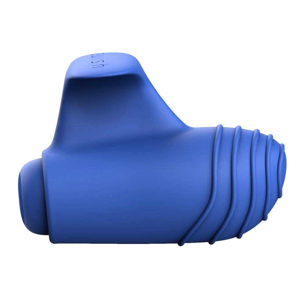 Basics – silikónový prstový vibrátor (modrý)