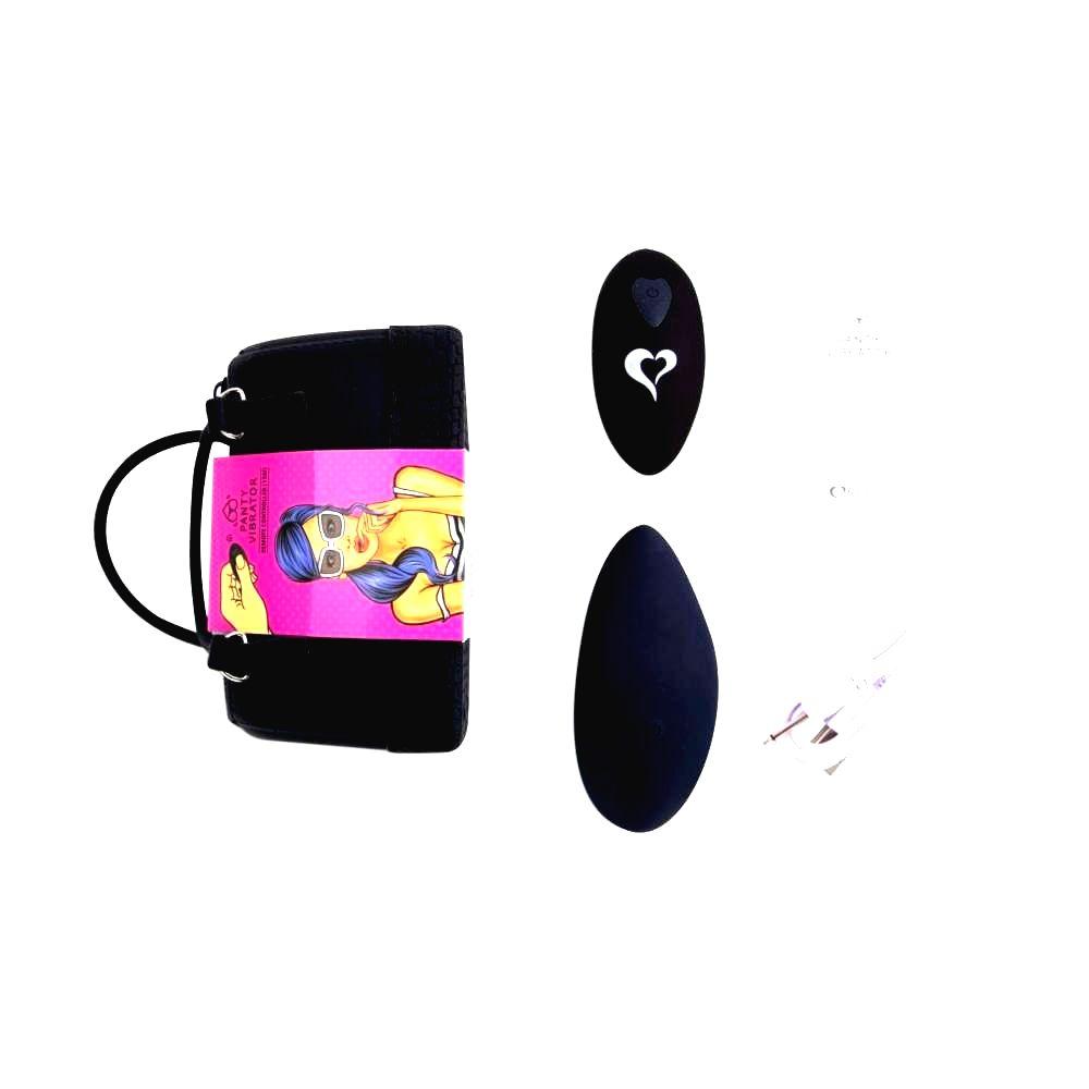 FEELZTOYS Panty nabíjací vibrátor na klitoris s diaľkovým ovládaním (čierne)