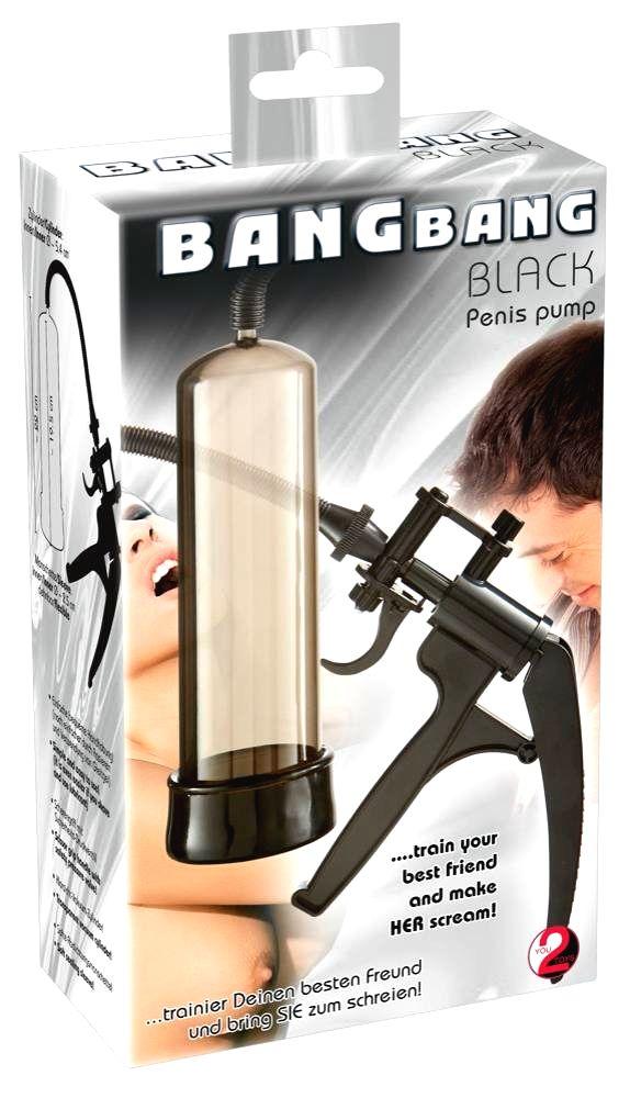 You2Toys Bang Bang nožnicová pumpa na penis (čierna)