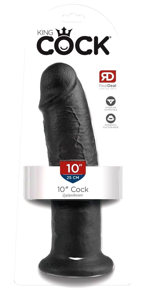 King Cock 10 large suction dildo (25cm) black