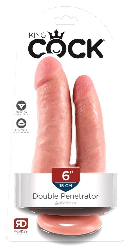 King Cock Double Penetrator lifelike double dildo (natural)