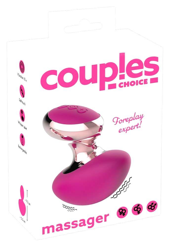 Couples Choice cordless mini massage vibrator (pink)