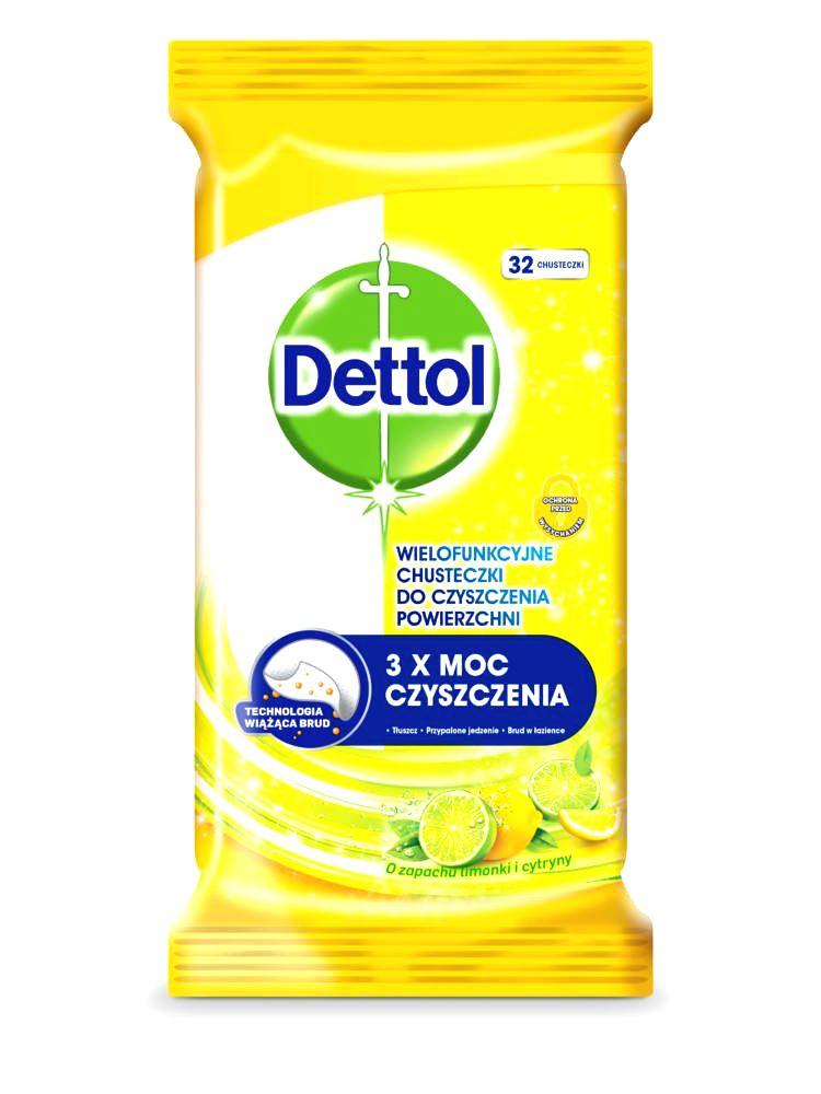 Dettol Power & Fresh universal surface cleaning cloth lemon-lime (32pcs)