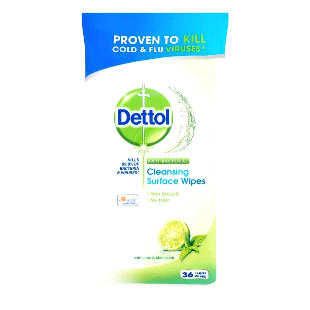 Dettol antibacterial surface cleaning cloth (36pcs) lime-mentha