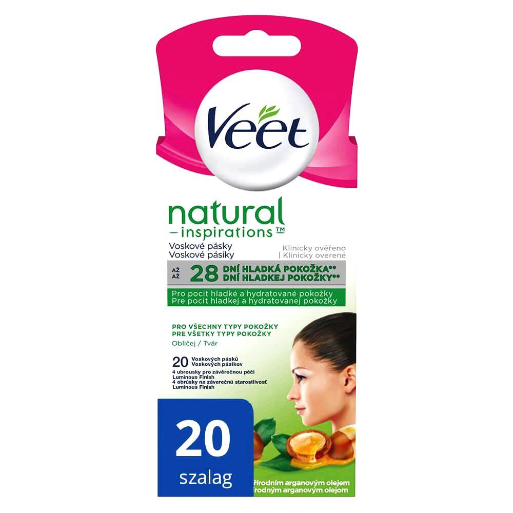 Veet Natural Inspirations cold resin facial tapes (20pcs)