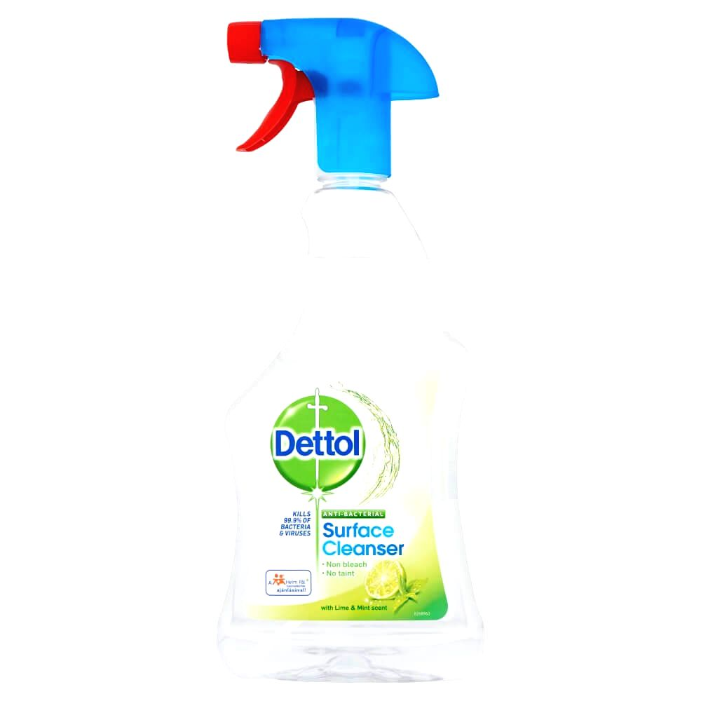 Dettol antibacterial surface cleaning spray (500ml) lime-mentha