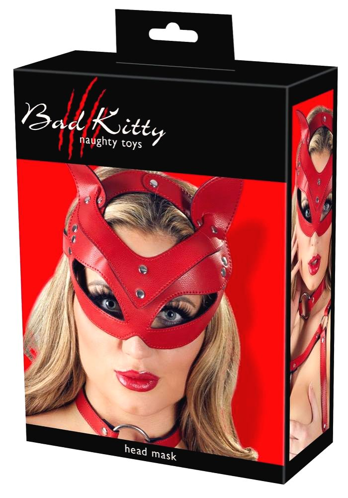 Bad Kitty wildcat kitten with mask ears (red)