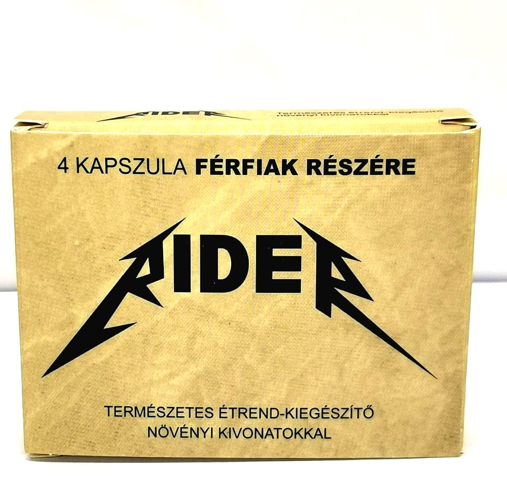 Rider natural dietary supplement for men (4pcs)