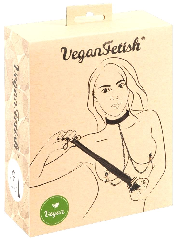 Vegan Fetish Disciplinary Set (Black) 3 Pieces